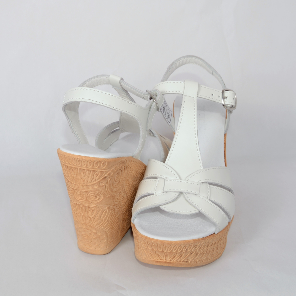 Sandale din piele naturala 204 Alb [2]