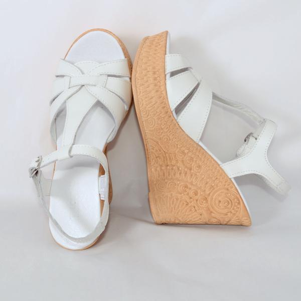 Sandale din piele naturala 204 Alb [3]