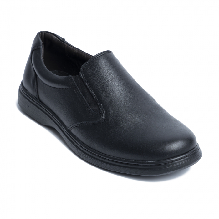 Pantofi casual din piele naturala 1056 Negru [0]