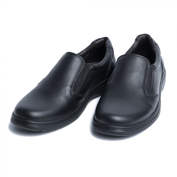 Pantofi casual din piele naturala 1056 Negru [2]