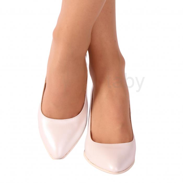 Pantofi din piele naturala 558 TIMB ALB [1]
