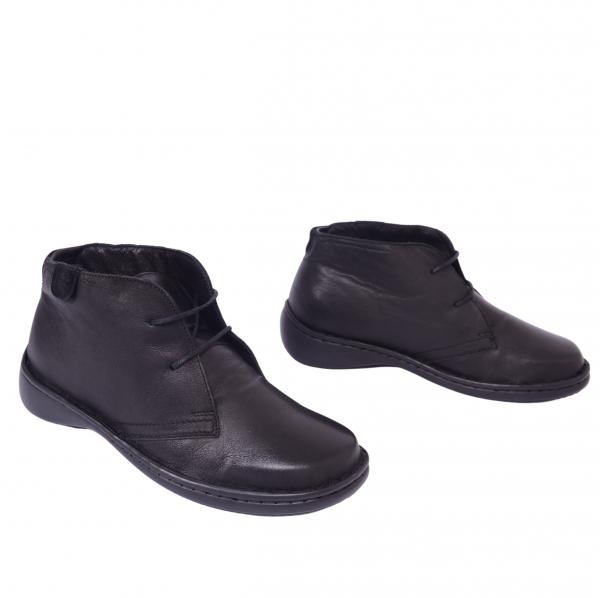 Pantofi piele Medline Confort 478 Negru 1