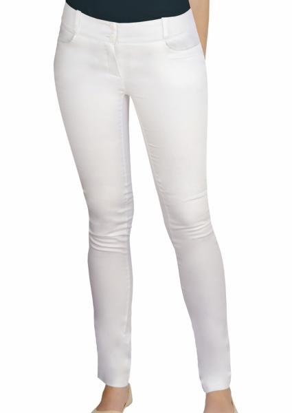 Pantaloni medicali Slimfit alb 0