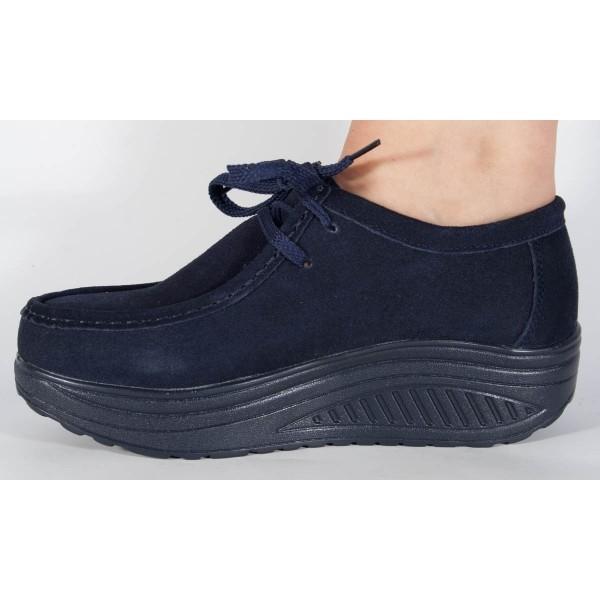 Pantofi bleumarin cu talpa convexa 3