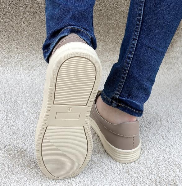 Pantofi piele naturala Denna 521 Nude 3