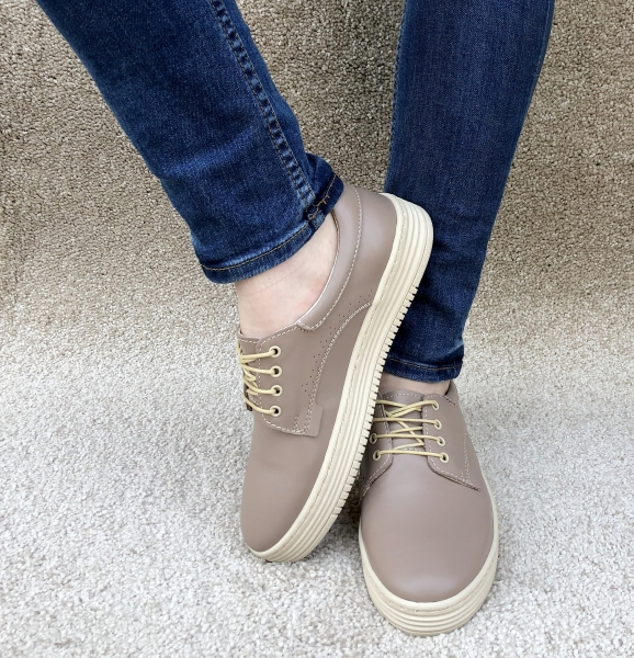 Pantofi piele naturala Denna 521 Nude 2