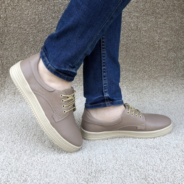 Pantofi piele naturala Denna 521 Nude 0