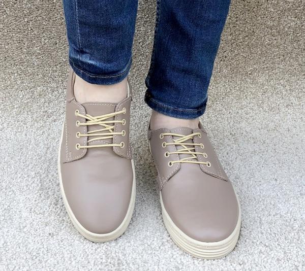 Pantofi piele naturala Denna 521 Nude 1