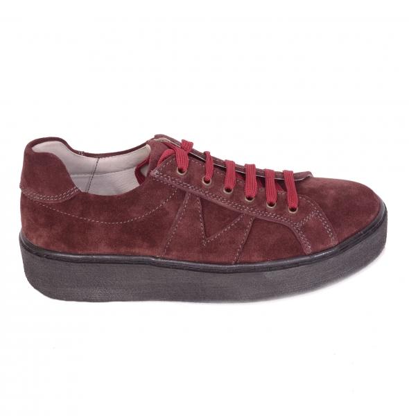 Pantofi casual dama 556 Bordo 0
