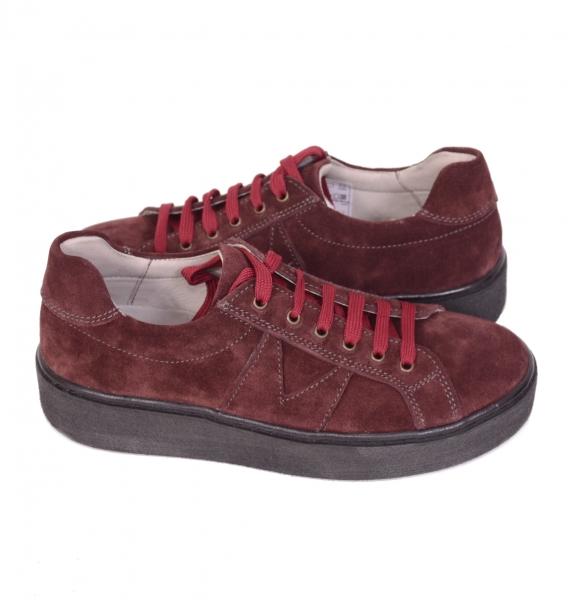 Pantofi casual dama 556 Bordo 3