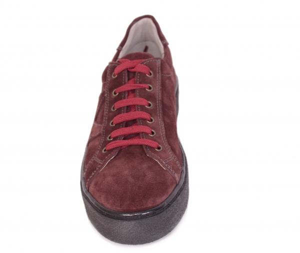Pantofi casual dama 556 Bordo 1
