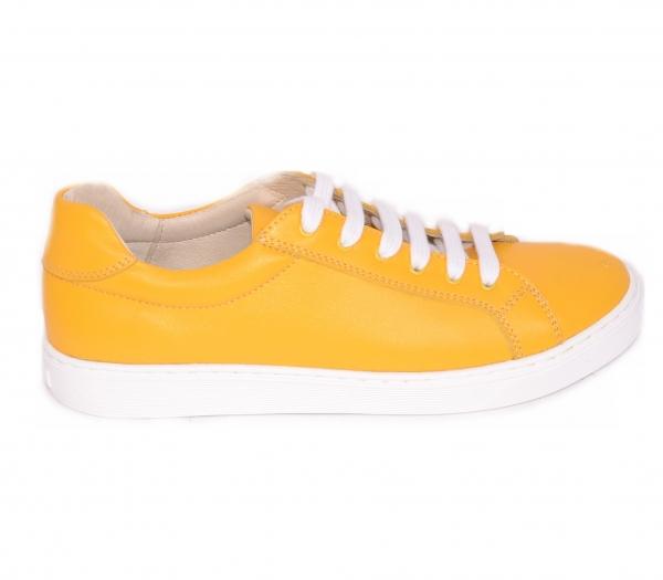 Pantofi Piele Naturala Veya 564 Galben 2