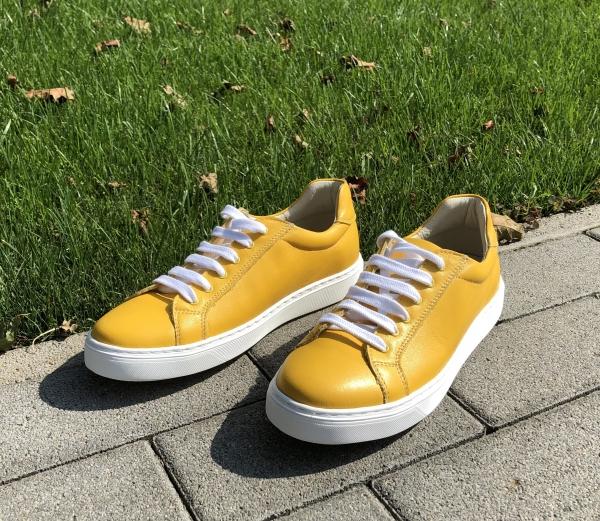 Pantofi Piele Naturala Veya 564 Galben 1