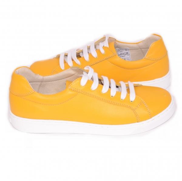 Pantofi Piele Naturala Veya 564 Galben 4