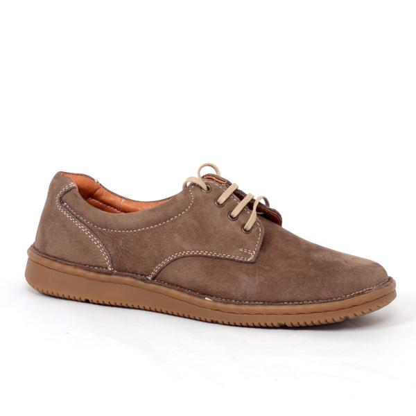 Pantofi casual dama 578 Maro- piele intoarsa 2