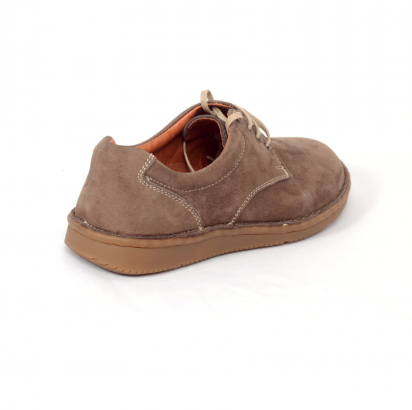 Pantofi casual dama 578 Maro- piele intoarsa 1