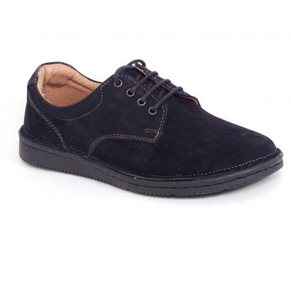 Pantofi casual dama 578 Negru piele intoarsa 0