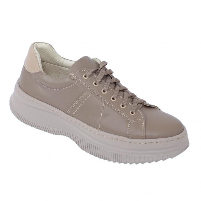 Pantofi casual dama 600 Bej 0