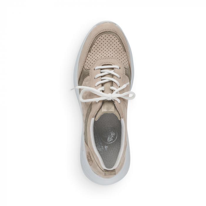 Pantofi sport din piele naturala Rieker 59426-60 5