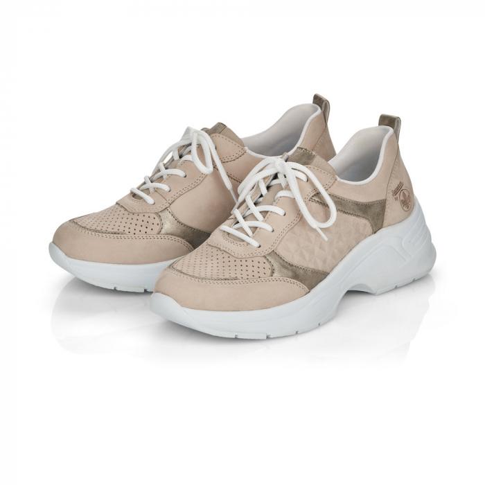 Pantofi sport din piele naturala Rieker 59426-60 1