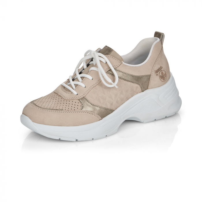 Pantofi sport din piele naturala Rieker 59426-60 4