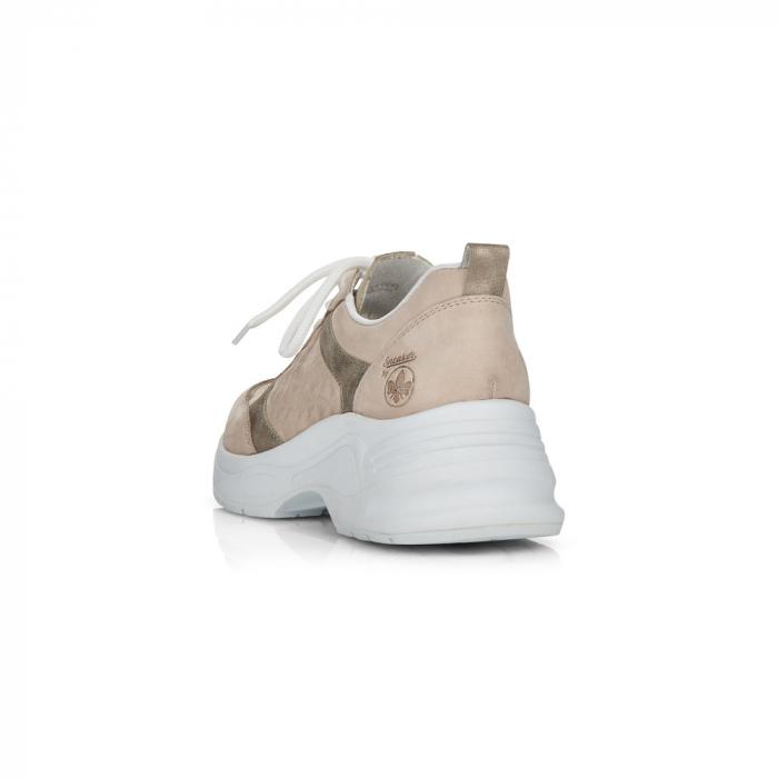 Pantofi sport din piele naturala Rieker 59426-60 3