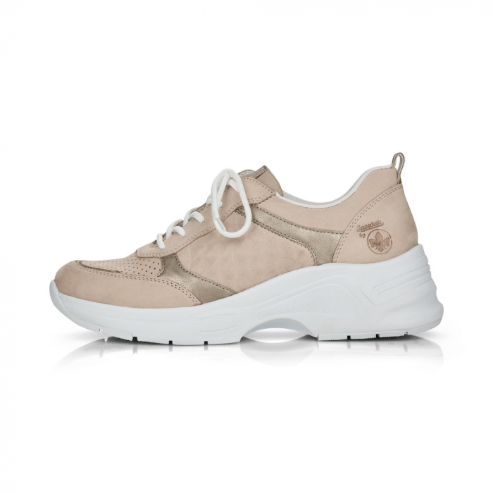 Pantofi sport din piele naturala Rieker 59426-60 6