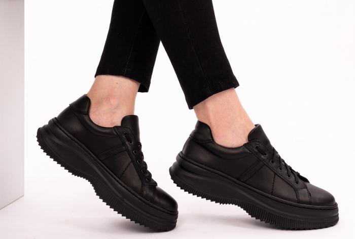 Pantofi casual dama 600 Negru [2]