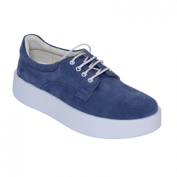 Pantofi casual dama 606 Bleumarin Velur [0]