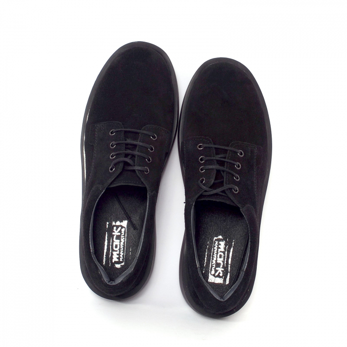 Pantofi casual dama 606 Negru Velur 1
