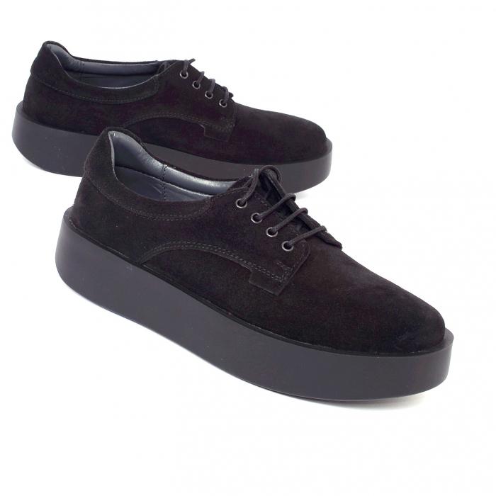 Pantofi casual dama 606 Negru Velur 0