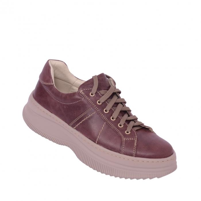 Pantofi casual dama 600 Bordo [1]
