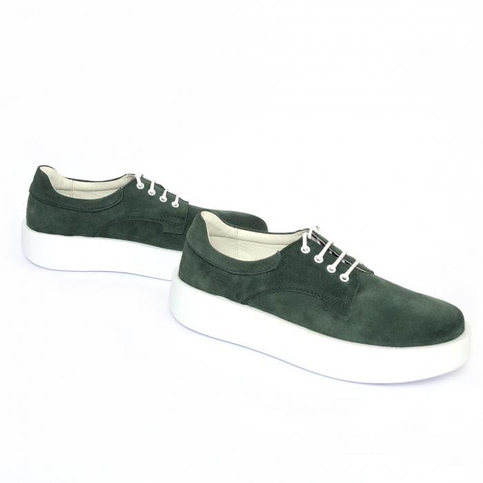 Pantofi casual dama 606 Verde Velur [2]