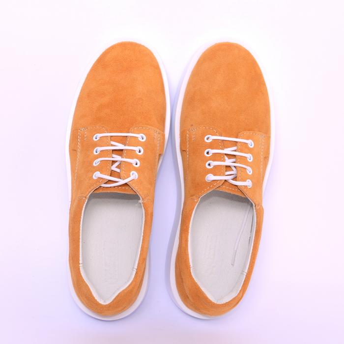 Pantofi casual dama 606 Galben Velur [3]