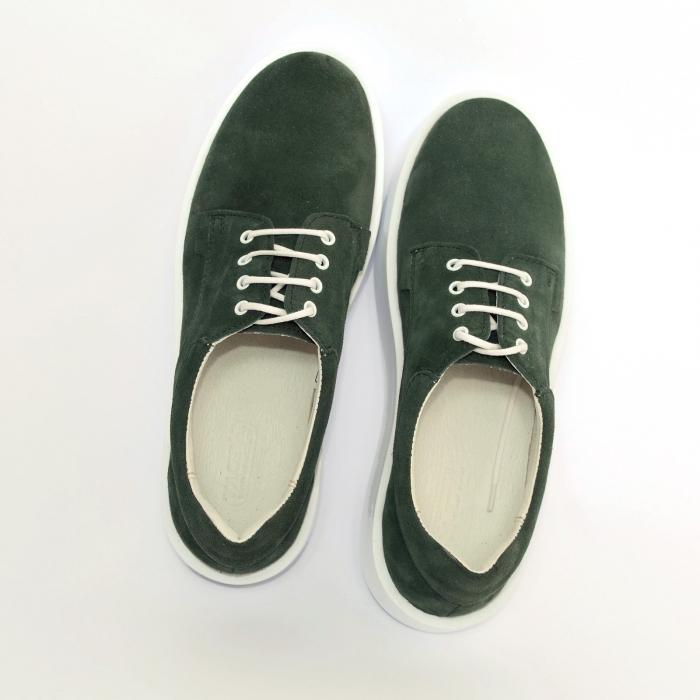 Pantofi casual dama 606 Verde Velur [1]
