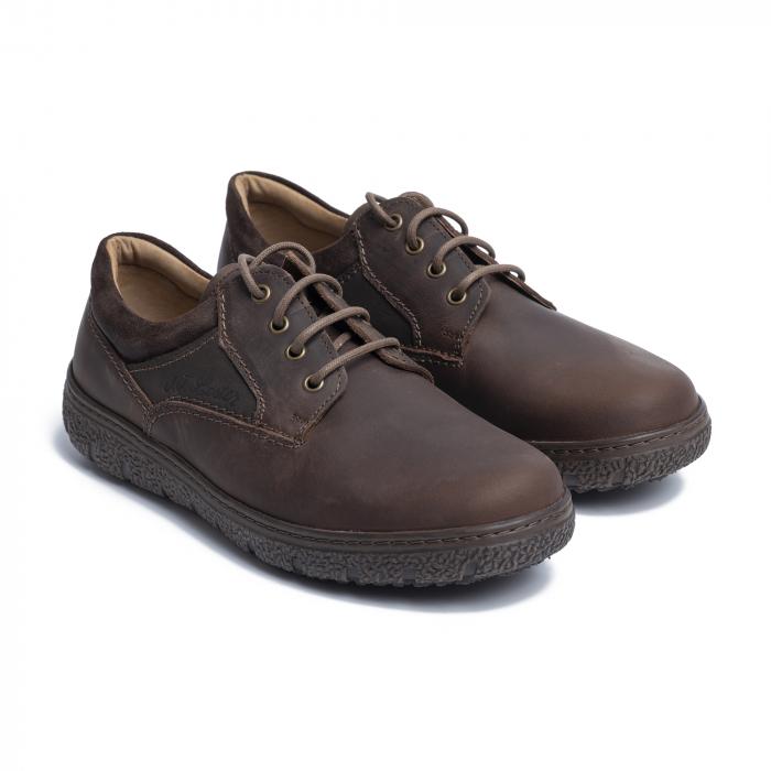 Pantofi casual din piele naturala 1020 Maro [0]