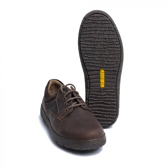 Pantofi casual din piele naturala 1020 Maro [2]