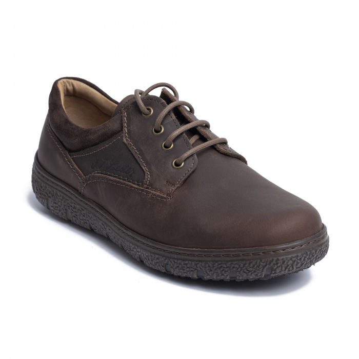 Pantofi casual din piele naturala 1020 Maro [1]