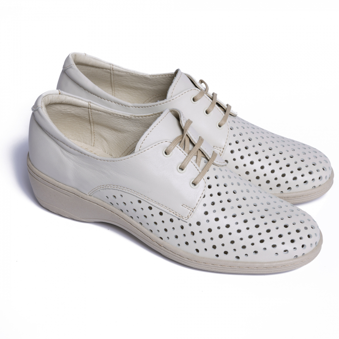 Pantofi casual din piele naturala 522 Bej [1]