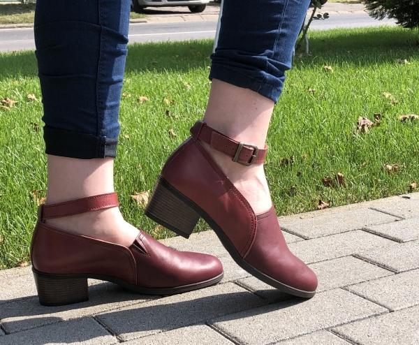 Pantofi confortabili dama 557 Bordo 0