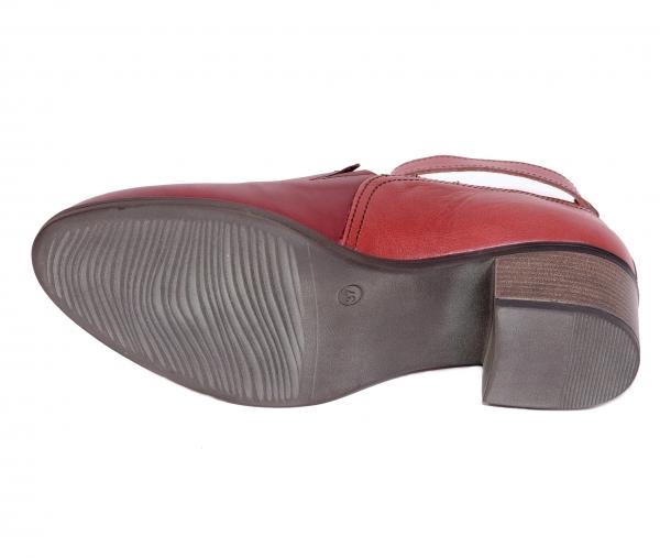 Pantofi confortabili dama 557 Bordo 3