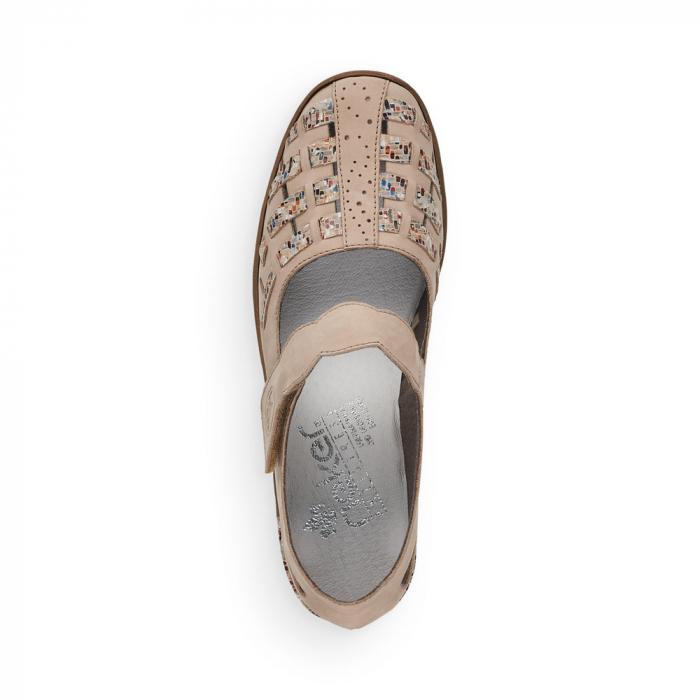 Pantofi de piele naturala Rieker 48369-60 4