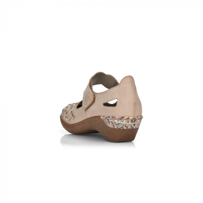 Pantofi de piele naturala Rieker 48369-60 3