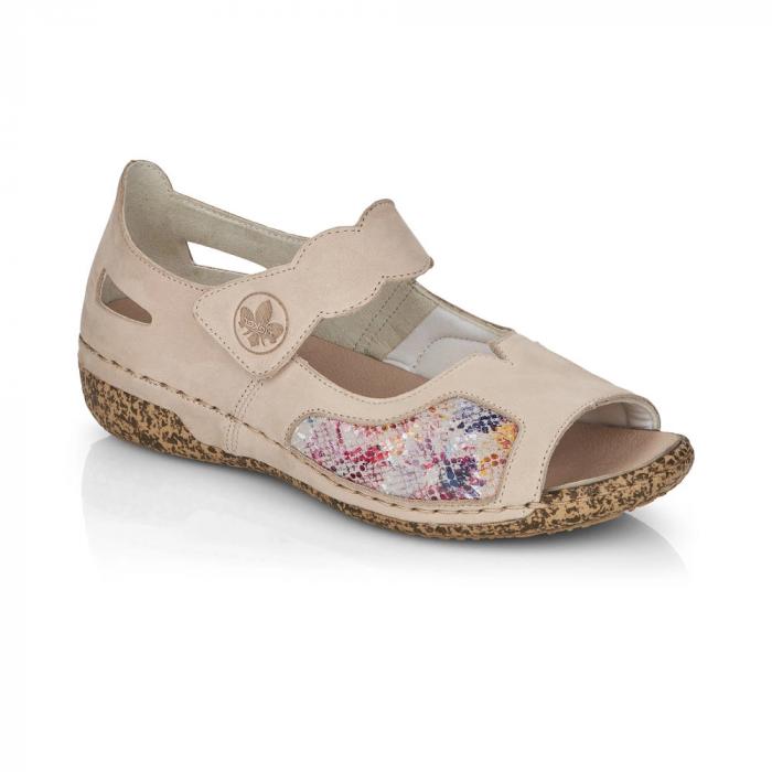 Pantofi de piele naturala decupati Rieker V7299-60 [0]