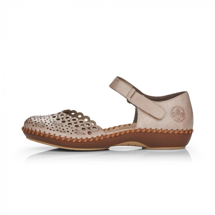 Pantofi de piele naturala Rieker M1656-62 6