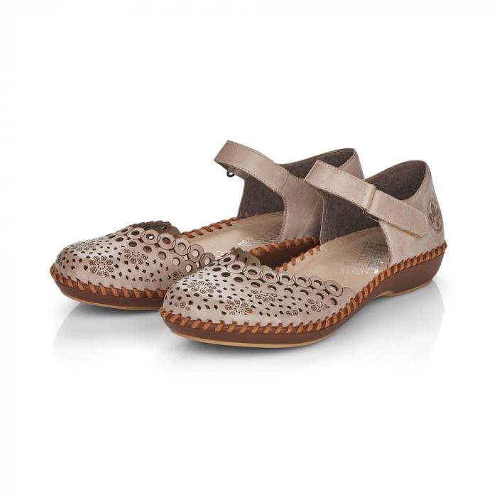 Pantofi de piele naturala Rieker M1656-62 2