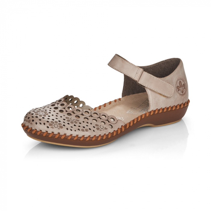 Pantofi de piele naturala Rieker M1656-62 5