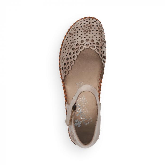 Pantofi de piele naturala Rieker M1656-62 4
