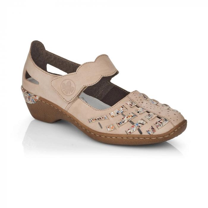 Pantofi de piele naturala Rieker 48369-60 0