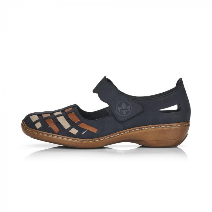 Pantofi de piele naturala Rieker 41369-14 [5]